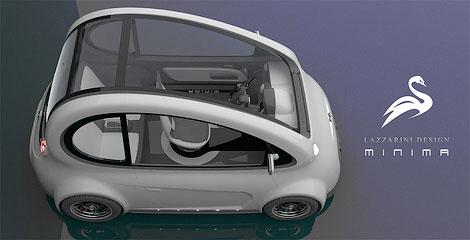 Ателье Lazzarini представило проект доступного компакт-кара Minima. Фото 2