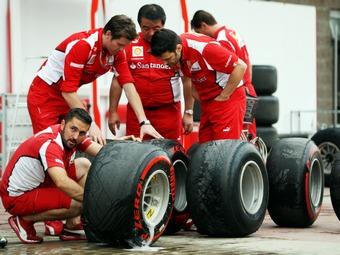 Срок службы сухих шин для Формулы-1 составил 180 километров
