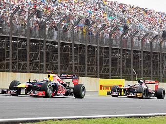 На Гран-при Бразилии судьи не заметили нарушение правил Феттелем