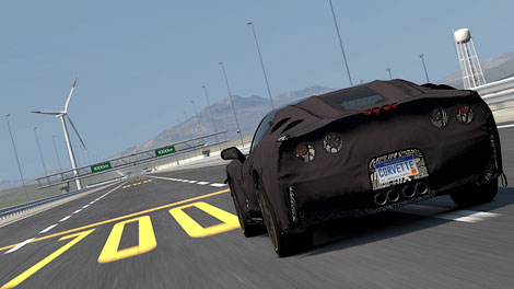 Суперкар в закамуфлированно виде появился в игре Gran Turismo 5