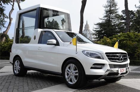 Машина будет использоваться для встреч с верующими в Ватикане. Фото 2