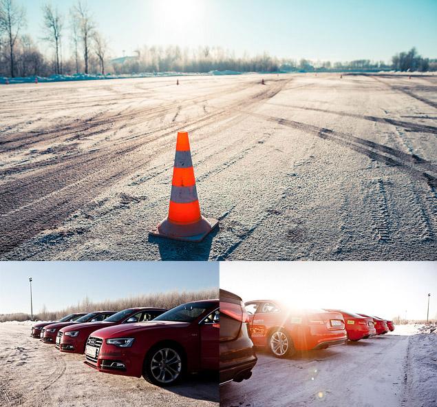 Берем уроки зимнего вождения в школе Audi quattro camp