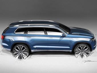 Изображение семиместного внедорожника Volkswagen попало в Сеть