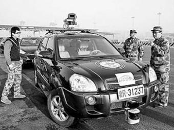 Китайские военные создали гражданский беспилотный автомобиль