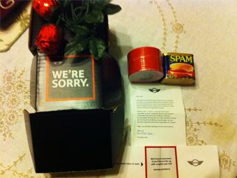 Компания MINI извинилась перед клиентами за спам ветчиной и шоколадом