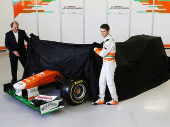 Пол ди Реста показал новый болид Force India
