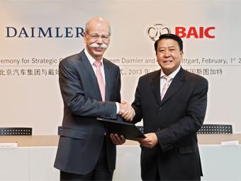Daimler станет совладельцем китайской автокомпании BAIC