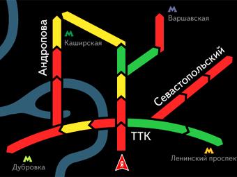 """Экранов с пробками """"Яндекса"""" в Москве стало в четыре раза больше"""