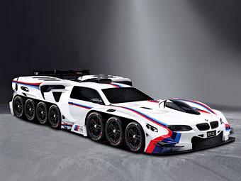 Компания BMW нарисовала 42-колесную машину для ребенка