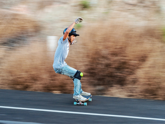 Скейтер в ЮАР попался на двукратном превышении скорости