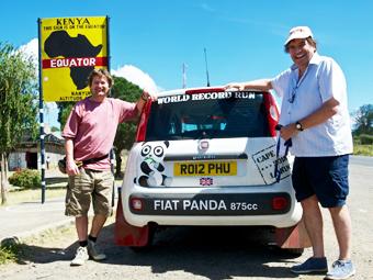 Британцы на Fiat Panda проехали от Кейптауна до Лондона за 10 дней