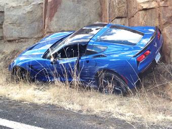 Первый Chevrolet Corvette Stingray разбили до начала продаж