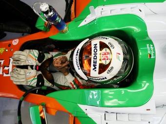 Адриан Сутил прошел подгонку сиденья в Force India