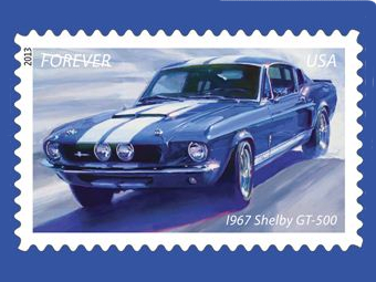 В США выпустили коллекцию марок с легендарными масл-карами