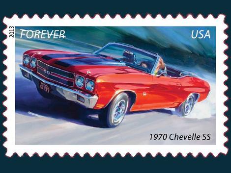 На почтовых знаках изобразили классические автомобили 60-х годов
