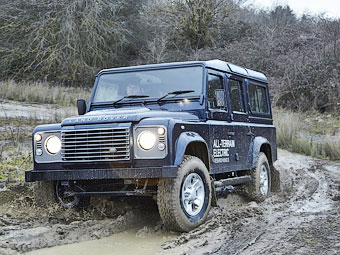 """Land Rover построил к Женеве семь электрических """"Дефендеров"""""""