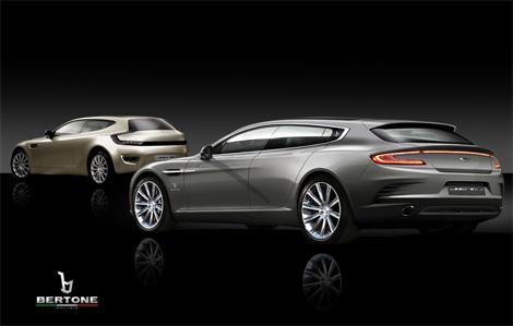 Итальянцы привезут в Женеву четырехместный Aston Martin Vanquish