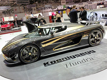 Koenigsegg построил золотой гиперкар