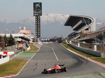 На тестах Формулы-1 Marussia показала рекордную максимальную скорость
