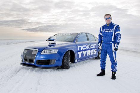 Audi RS6 на шинах Hakkapelitta разогнался до 335,7 километра в час