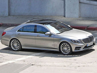 Новый Mercedes-Benz S-Class сфотографировали без камуфляжа