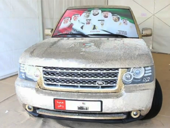 Арабы обклеили Range Rover 57 тысячами монет