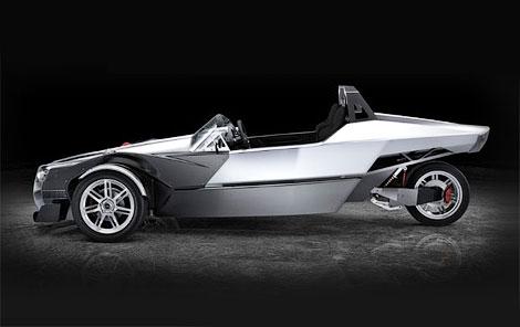 """400-сильный трехколесный автомобиль наберет """"сотню"""" за четыре секунды"""