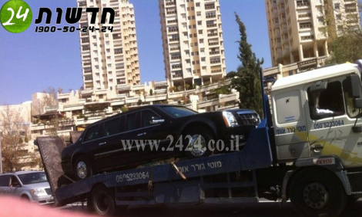 Президентский Cadillac сломался во время визита Обамы в Израиль