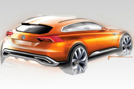 Немцы представят гибридный концепт-кар CrossBlue Coupe