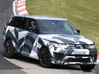 "Land Rover начал тесты ""заряженного"" Range Rover Sport"