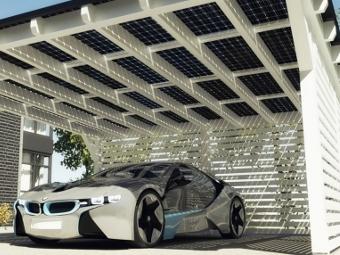 Электрокары BMW получат зарядки на солнечной энергии
