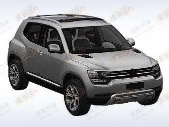 Изображения маленького кроссовера Volkswagen попали в Сеть