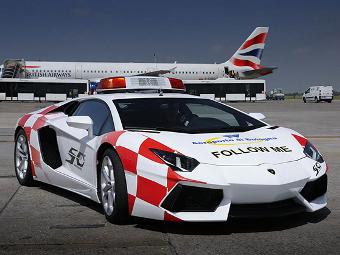 Суперкар Lamborghini поступил на службу в аэропорт