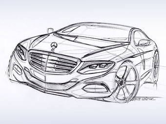 Mercedes-Benz показал тизер купе S-Class