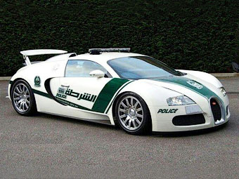 У полиции Дубая появился Bugatti Veyron