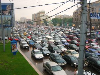 Перегруженность столичных дорог превысила 40 процентов