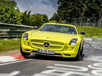 Электрический Mercedes-Benz SLS AMG установил рекорд Нюрбургринга
