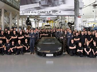 Lamborghini выпустила 2-тысячный Aventador