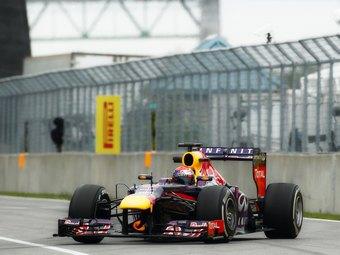 Феттель выиграл дождевую квалификацию Формулы-1 в Канаде