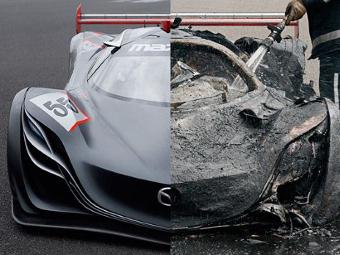 Журналисты Top Gear сожгли уникальный суперкар «Мазды»