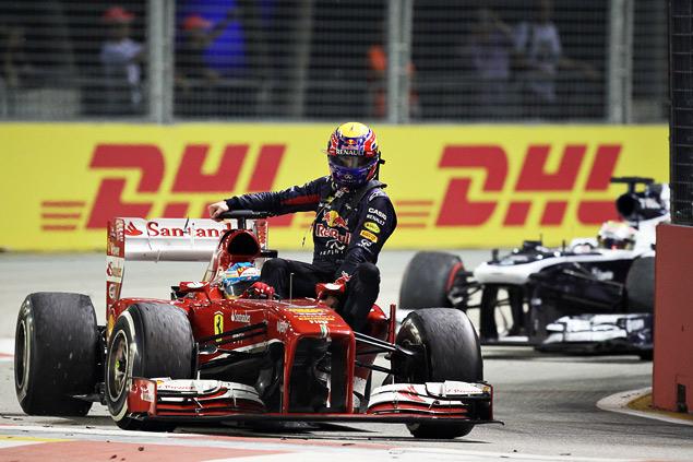 Себастьян Феттель не оставил шансов соперникам на Гран-при Сингапура. Фото 6