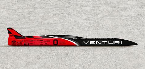 Электрокар Venturi VBB-3 попытается установить мировой рекорд скорости. Фото 1