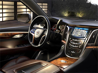 Cadillac рассекретил интерьер нового Escalade