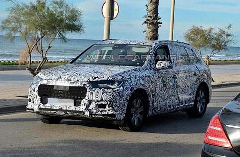 Компания Audi начала испытания следующего Q7. Фото 1