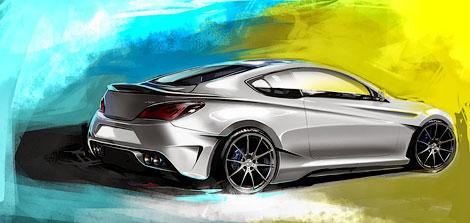 Купе Genesis оснастили новым обвесом кузова и 400-сильным мотором