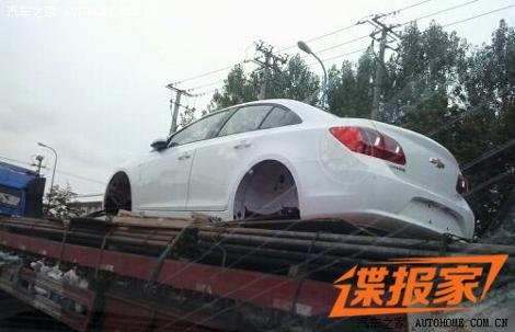 В Китае сфотографировали кузов рестайлингового Cruze