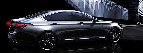 Компания Hyundai опубликовала изображения Genesis следующего поколения
