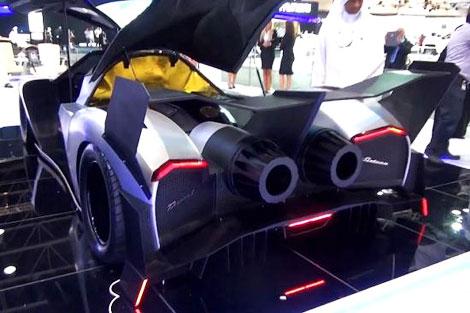 На моторшоу в Дубае показали суперкар с мотором V16