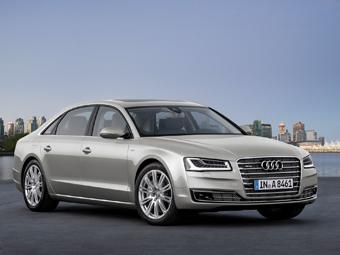 Стали известны рублевые цены на обновленный седан Audi A8
