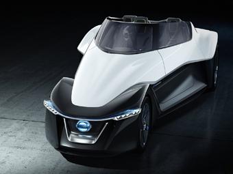Nissan создал трехместный электрический спорткар